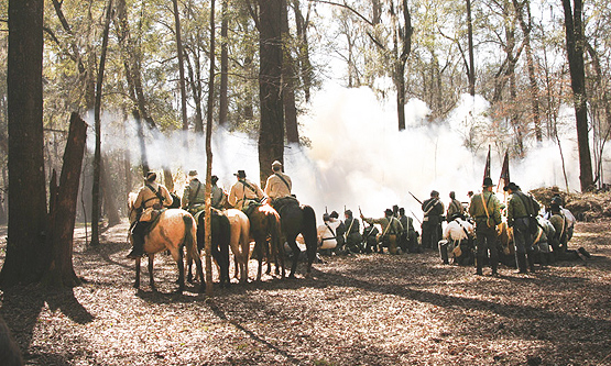 Civil War Reenactment at Broxton Bridge Plantation